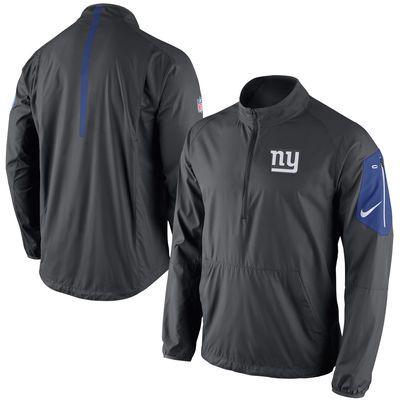 775f98322443 Men s Nike Charcoal New York Giants Lockdown Half-Zip Jacket