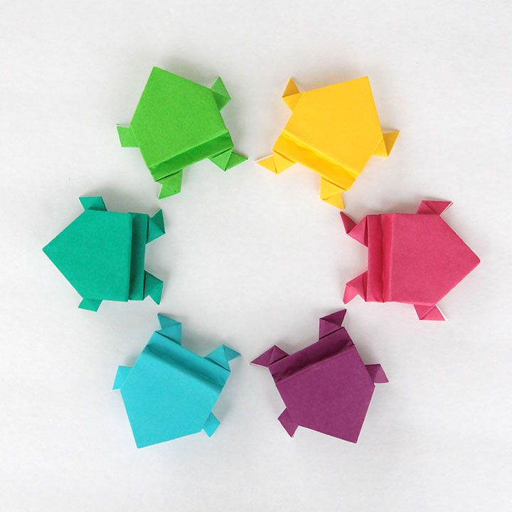 Learn How To Fold Origami Jumping Frogs With These Easy Follow Folding Instructions Great Indoor Activity For Kids