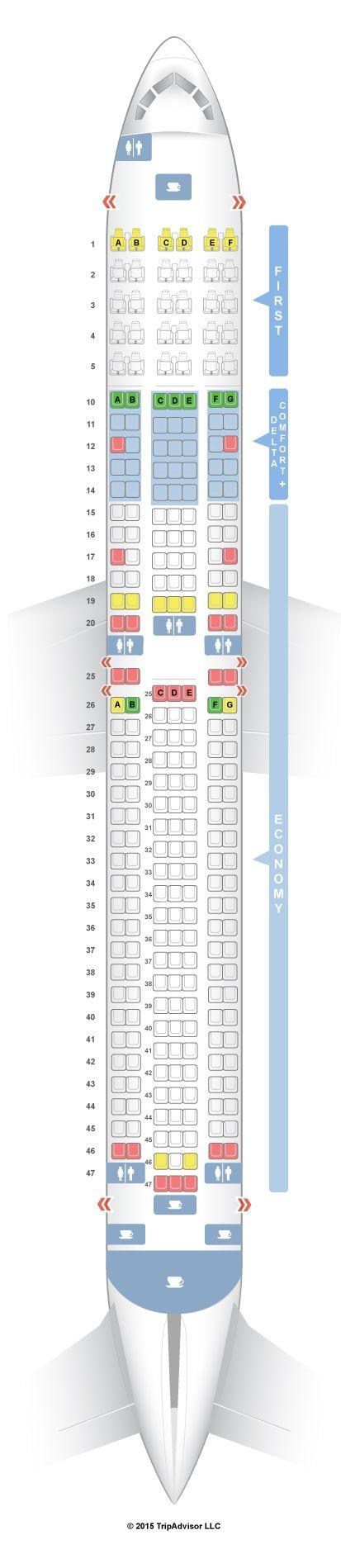 Seatguru Seat Map Delta Boeing 767 300 76p 76q Seatguru With