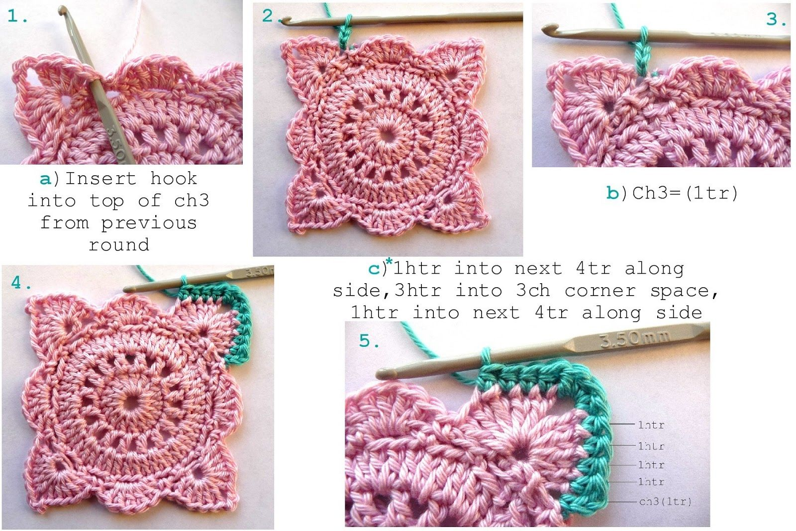 Annie\'s Place: Solid \'Willow\' Crochet Block How-To | Patsch Decke ...