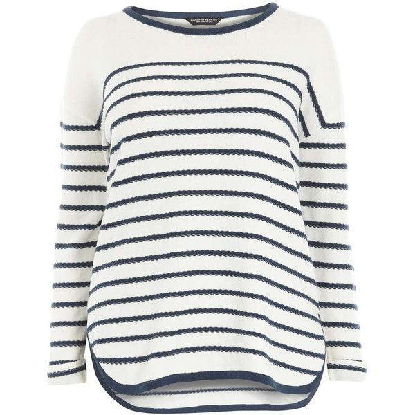 dp Ars Stripe Navy Ivory Dorothy Perkins 555 Jumper And Curve q7P4z5