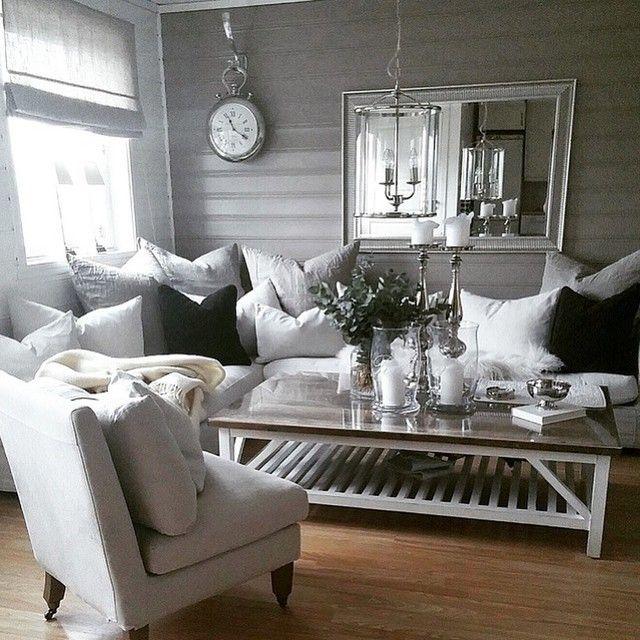 #Livingroom #cozy #cocooning #homesweethome #pillows #sheepskin #black #grey.  Silver CandlesDecoration SalonTownhouseBlanketsHome ...