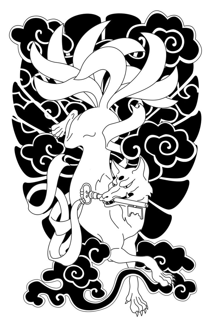 Nine Tailed Inari Fox Tatuagens Misticas Arte Da Tatuagem Japonesa Tatuagem Japonesa
