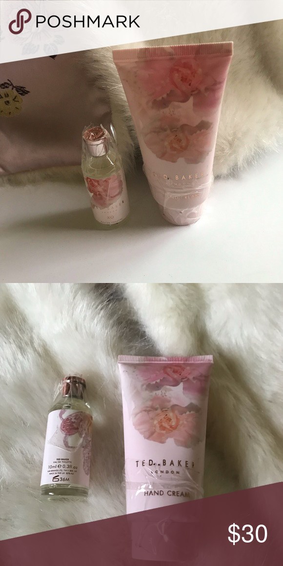 607084835 TED BAKER London Mini Eau toilette and Hand cream NEW ! XO Eau Toilette 10  ML Hand cream 50 Ml Ted Baker London Other