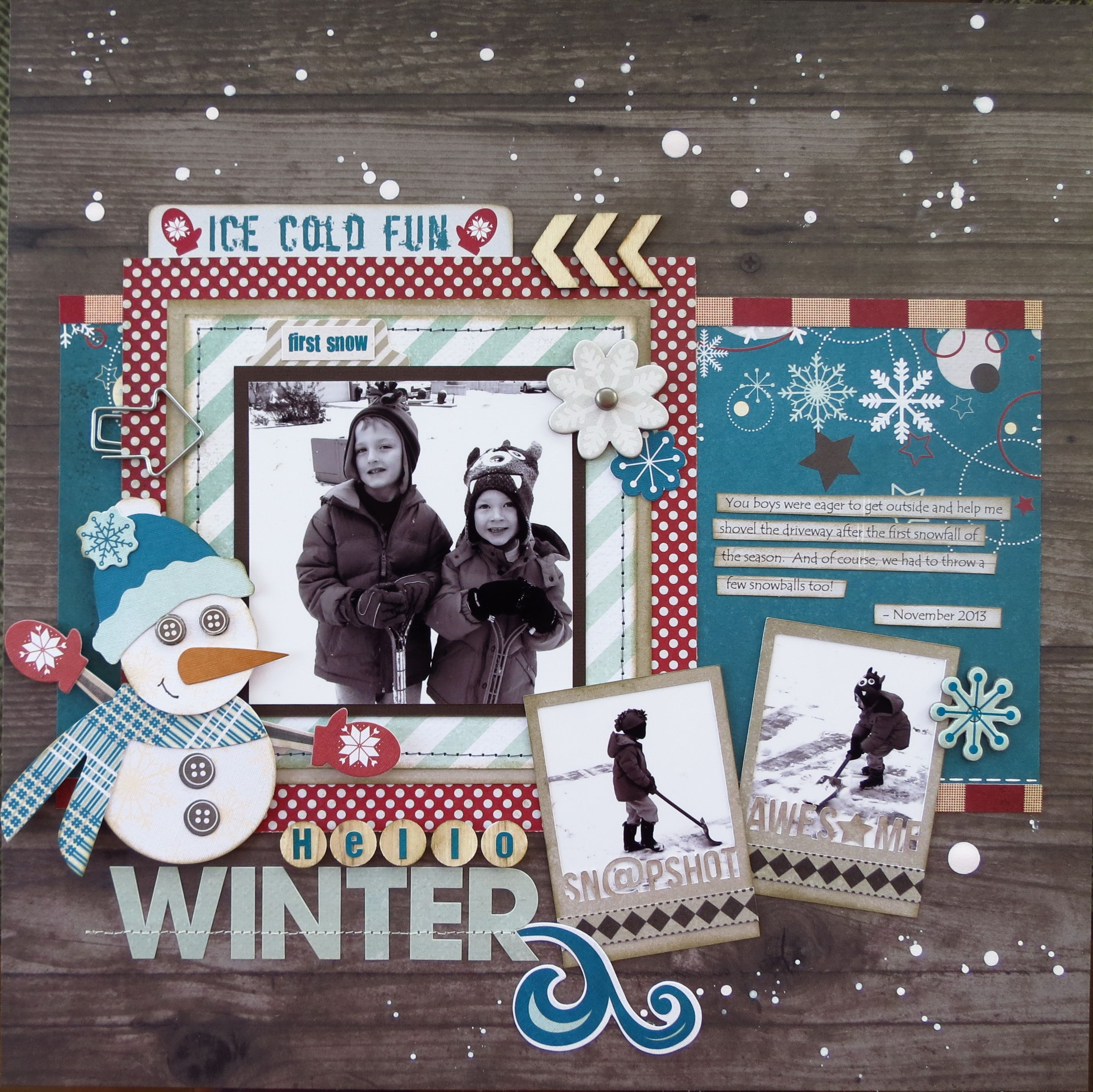 Layout using Fancy Pants\' Timbergrove collection by Brenda Mellott ...