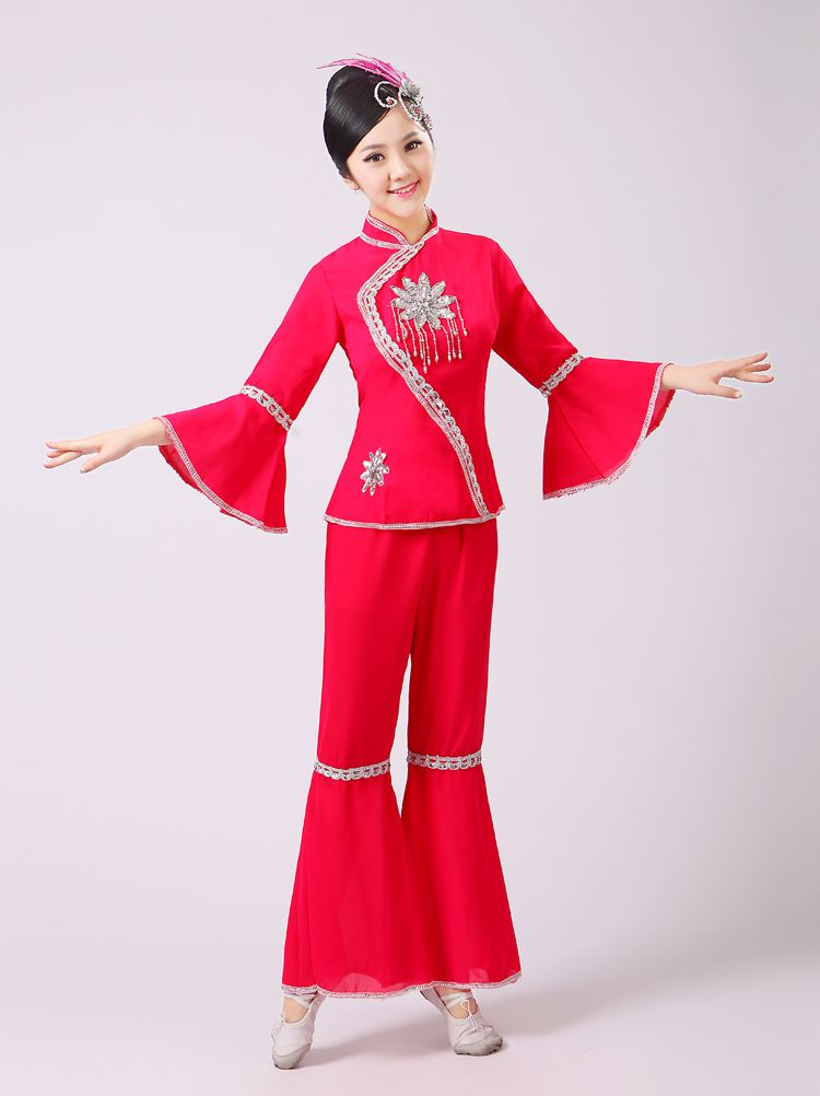 Click to Buy    Chinese Folk Dance Wear Yangko Dance Costume Women Chinese 7d53b5ccd