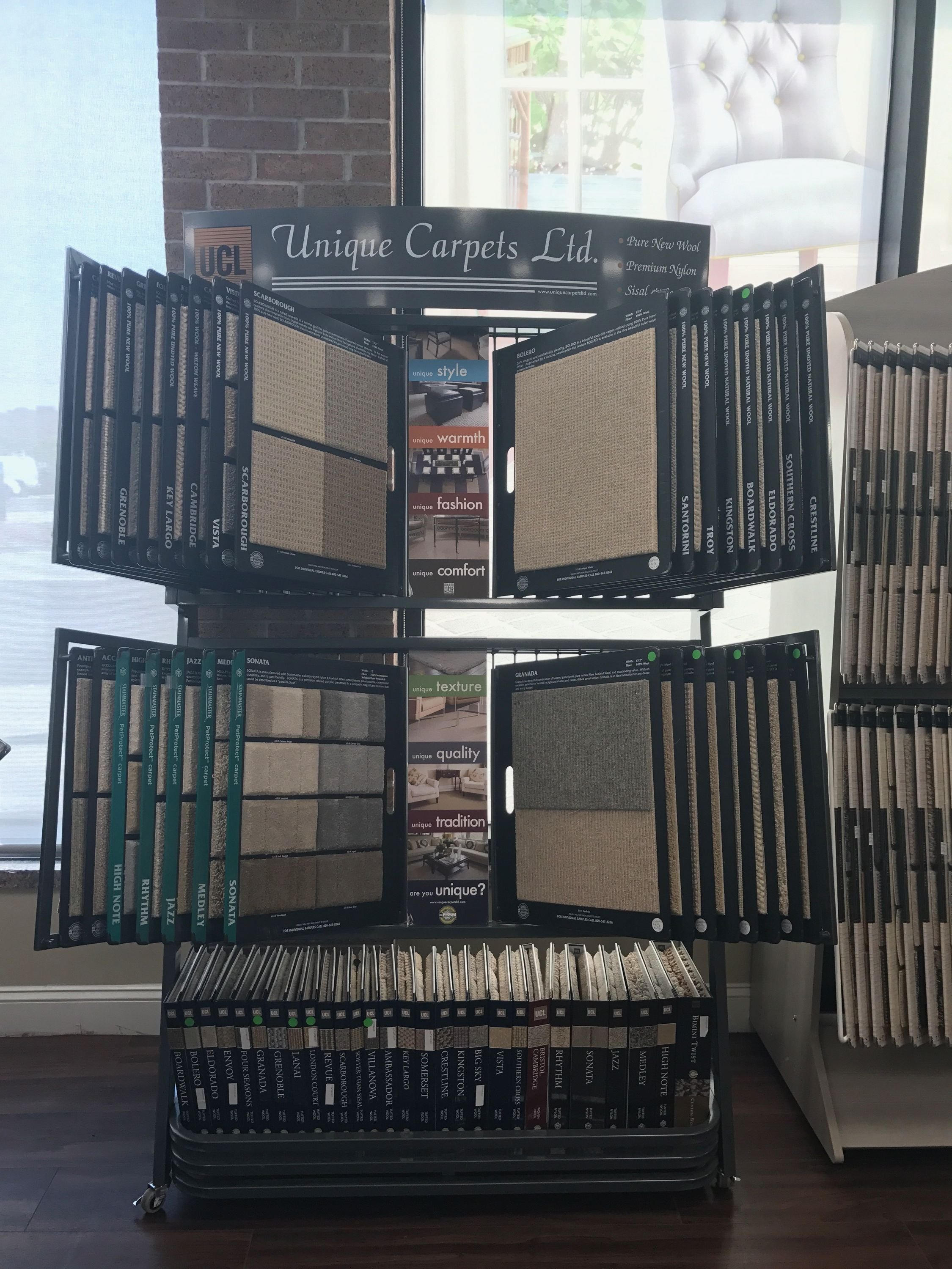 Great Options For Our Wool Customers In This Unique Carpets Display Woodside Carpet Square Feet