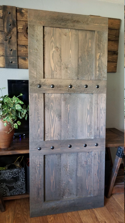 Rustic Barn Door – Rough Sawn Fir Barn Door – Barn Hardware …