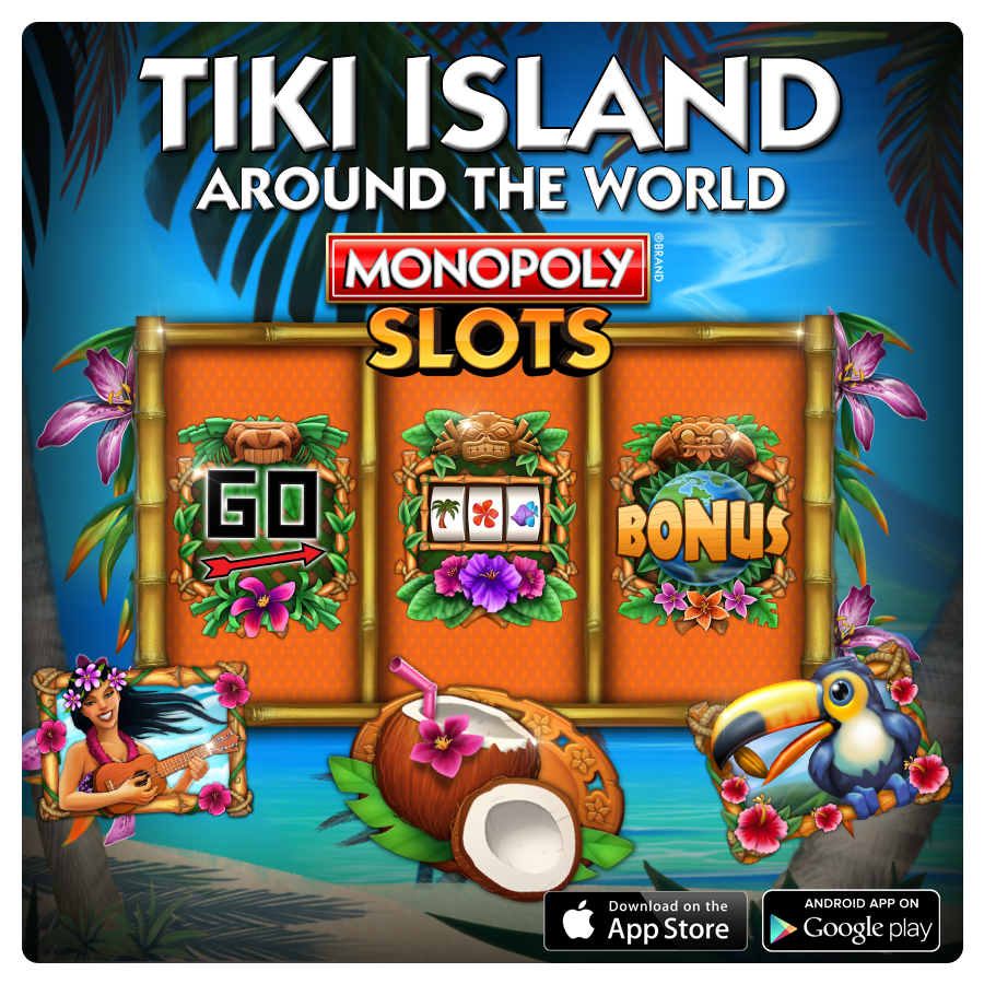 Tiki Island Slot Around the World Suite. 3x3 Layout; 5