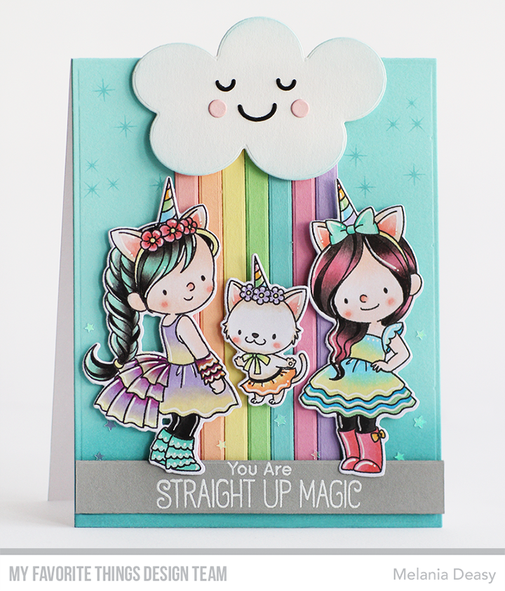 My Favorite Things BB MAGICAL UNICORNS Clear Stamps /& Die-namics Steel Die Set