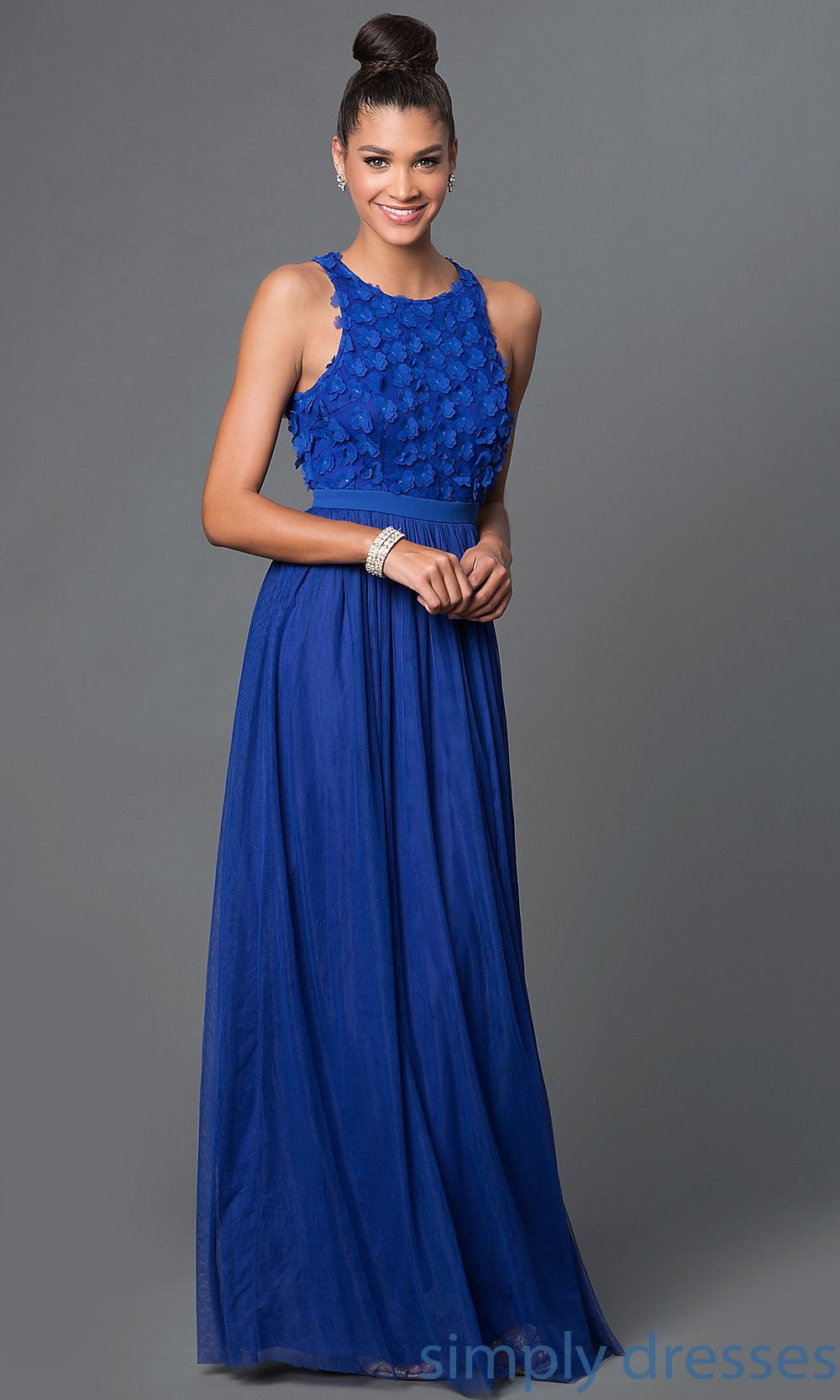 Shop royal blue prom dresses and sleeveless military ball gowns by ...