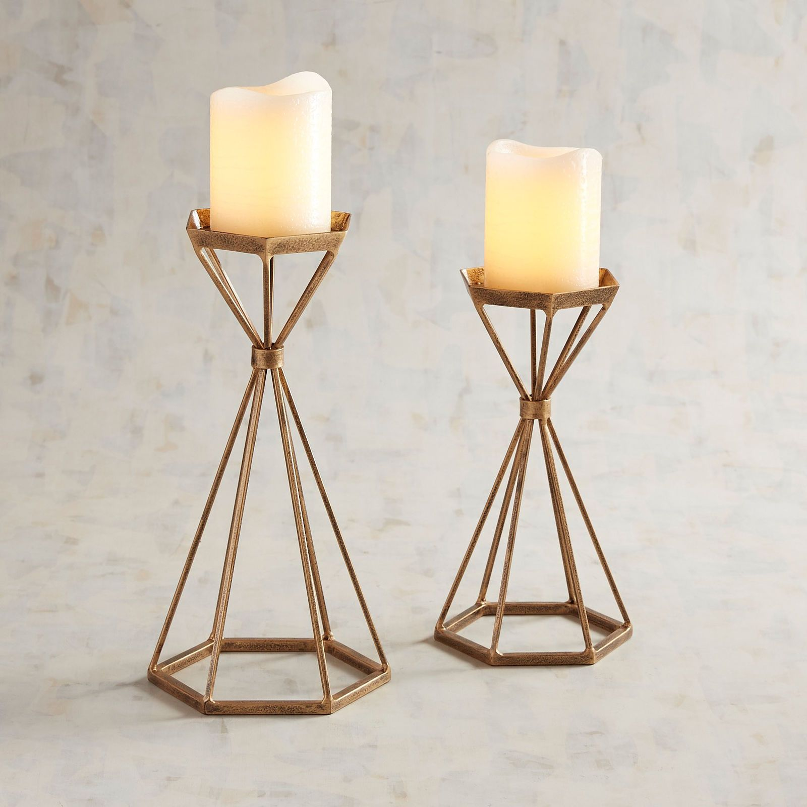 Modern Golden Metal Pillar Candle Holders Pillar Candle Holders Candle Stands Decor Candle Holders