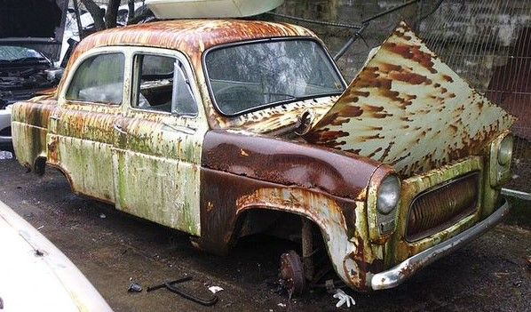 Ford Prefect Abandoned Cars Rusty Cars Vehicles