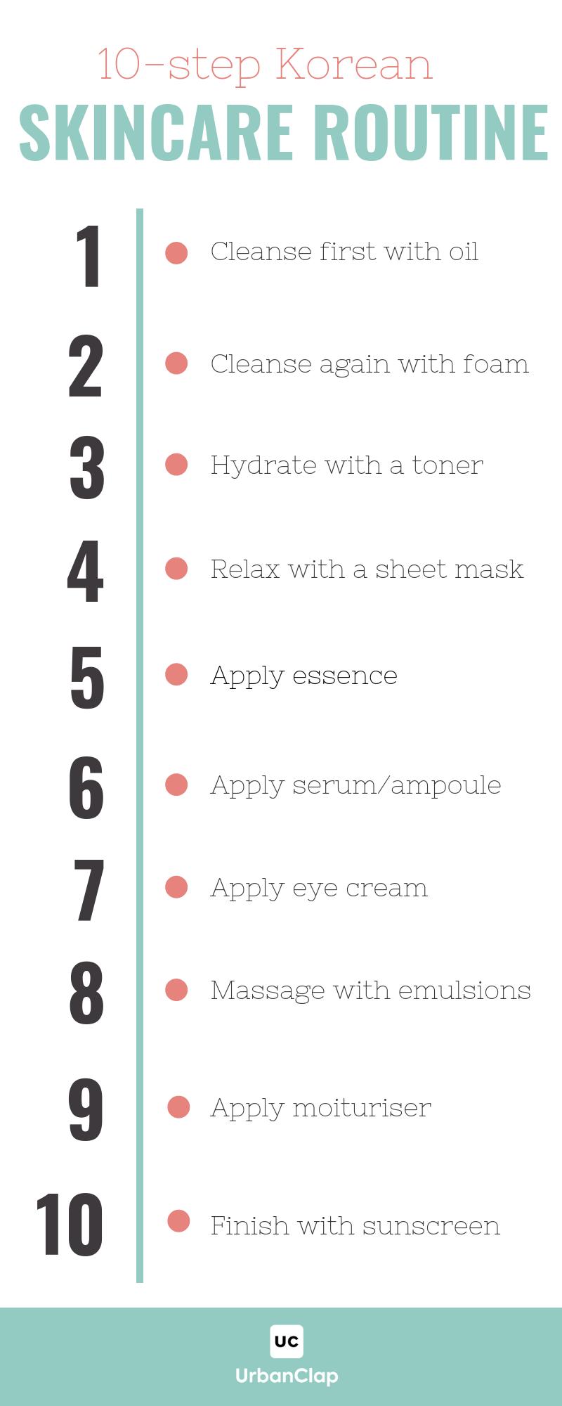 10 Step Korean Skin Care Routine Korean Skincare Routine Korean 10 Step Skin Care Korean Skincare