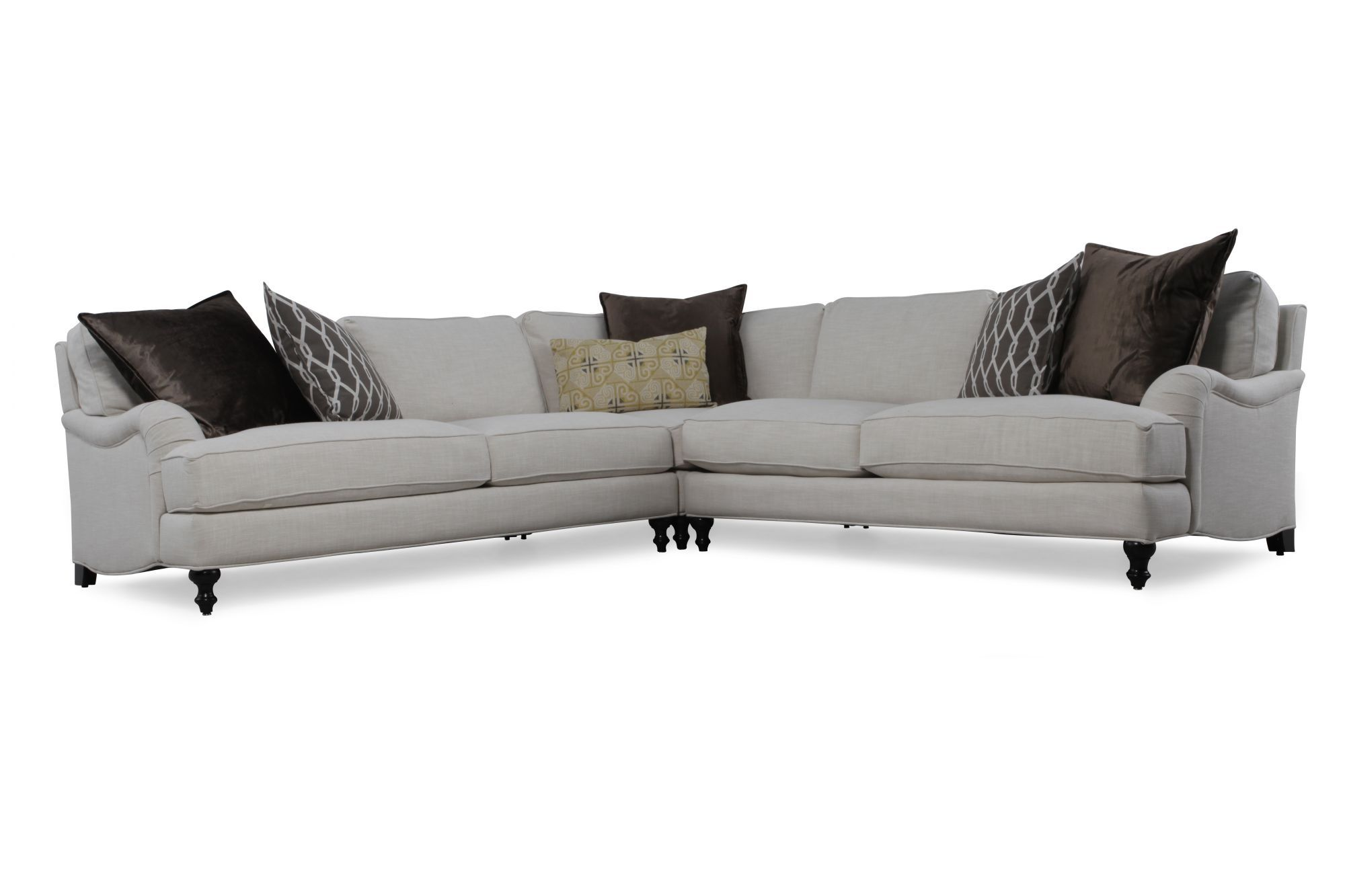 jonathan louis sofa bed black grey corner modular rattan weave set garden furniture clarice sectional pinterest