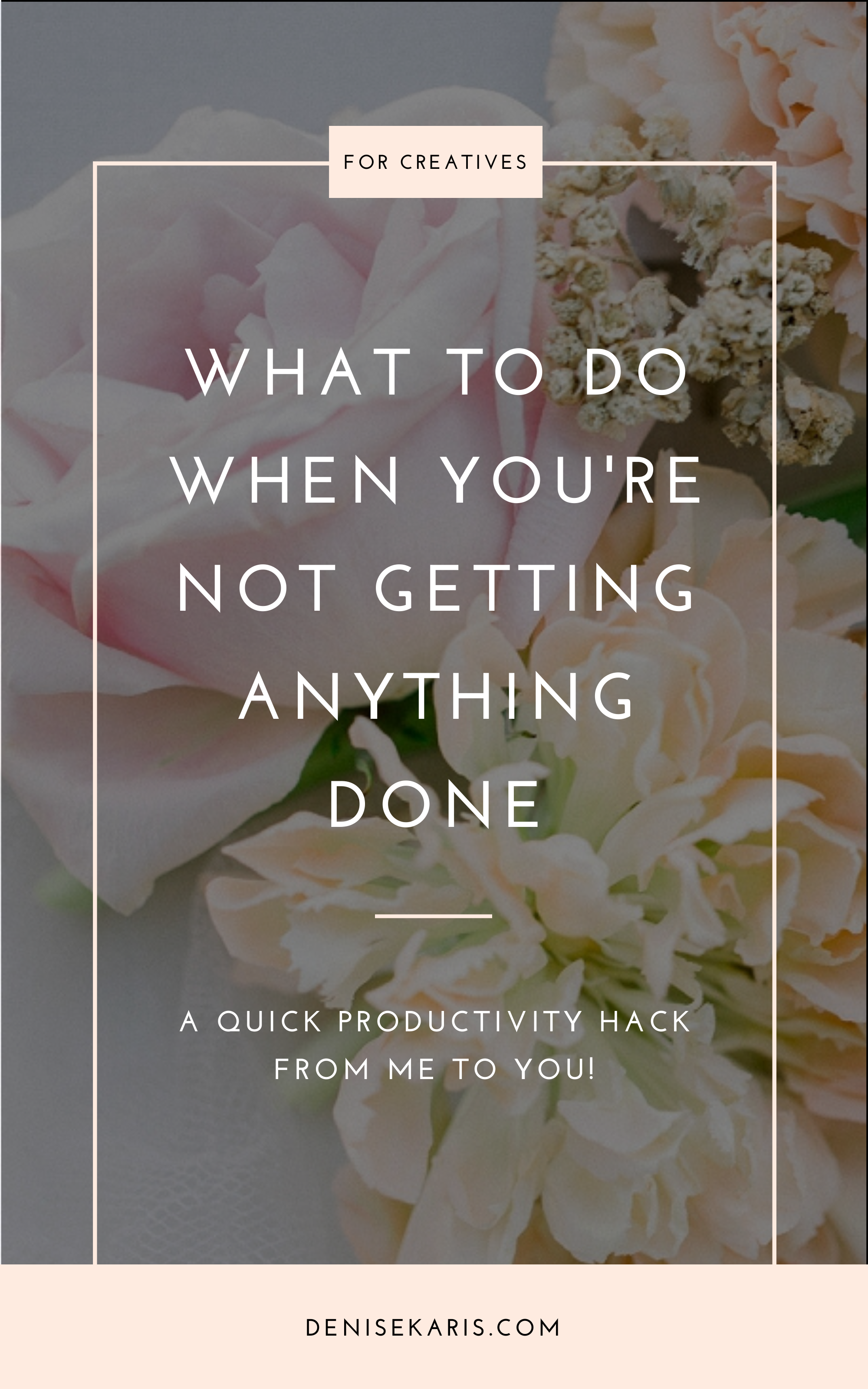 What To Do When You're Not Getting Anything Done
