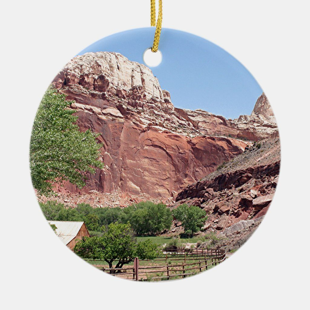 Fruita, Capitol Reef National Park, Utah, USA 4 Ceramic Ornament