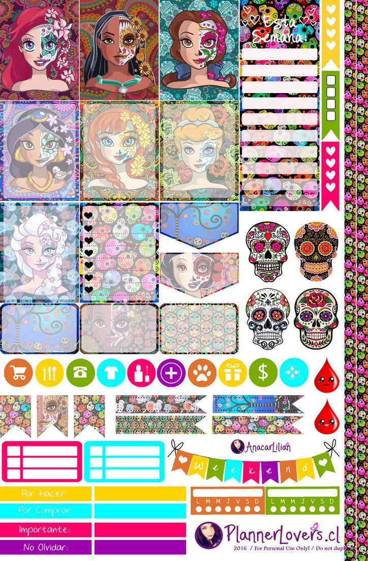 Death Princesses Printable Stickers by AnacarLilian.deviantart.com ...
