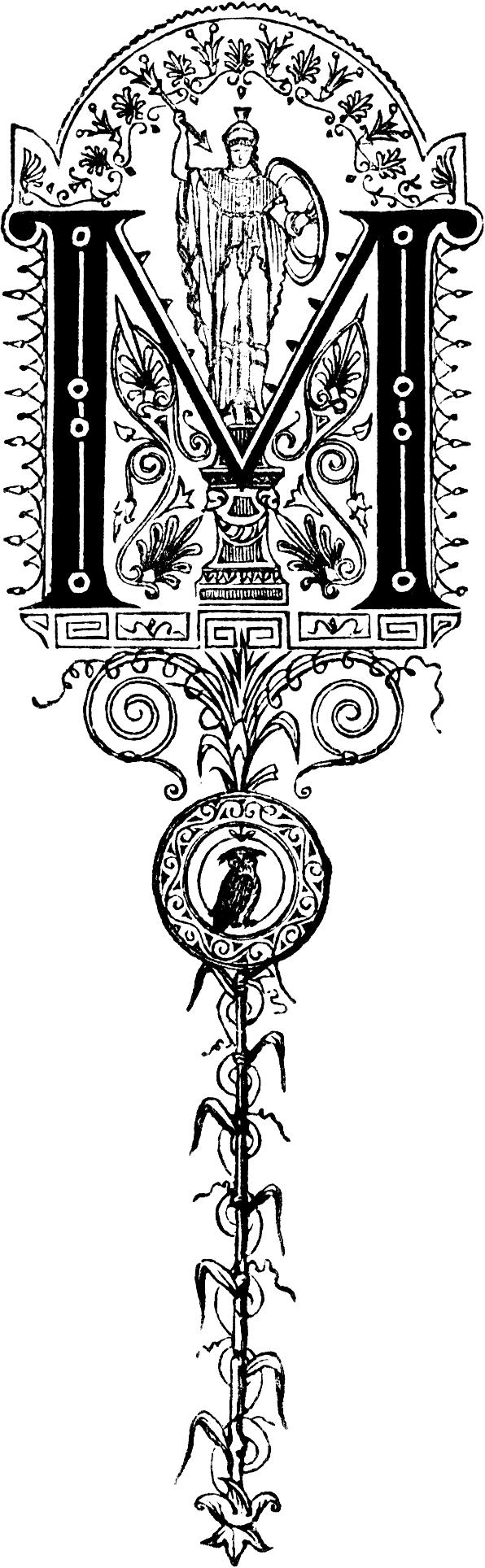 Decorative Letters Decorative Initial Letter M Roman Military Mmmmm