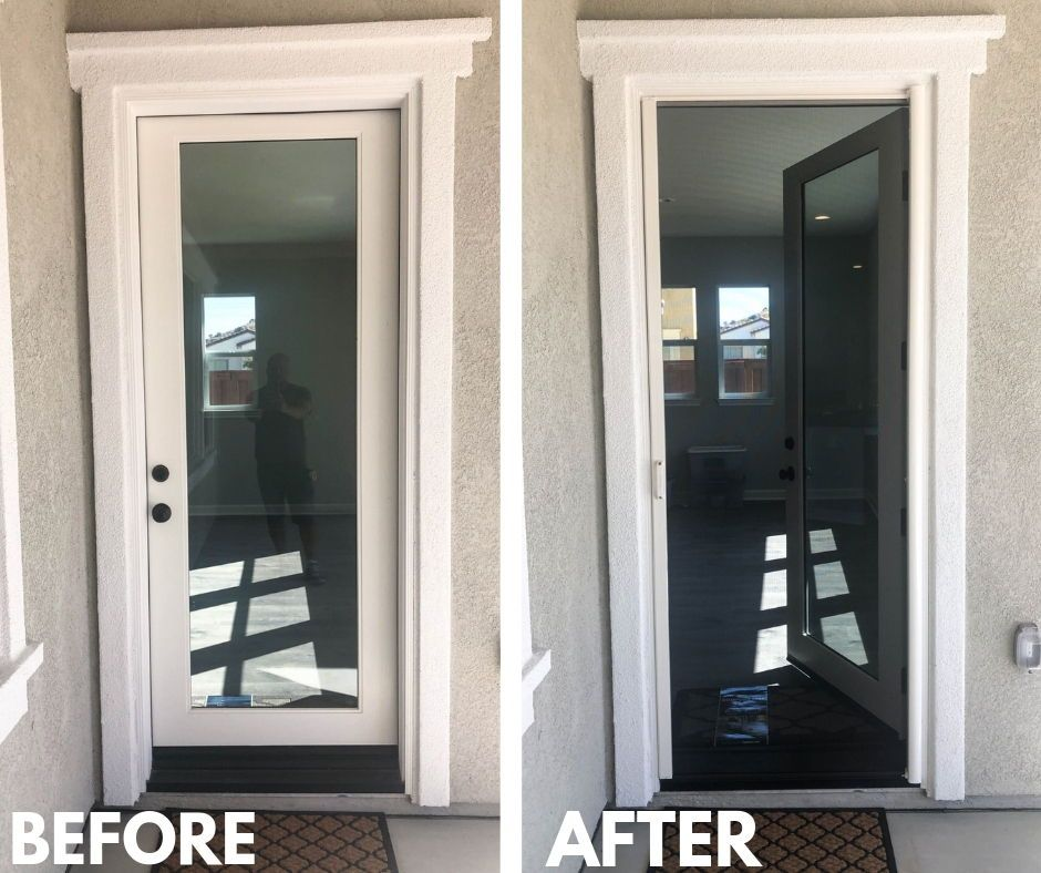 We installed two whiteframed, singledoor StowAway