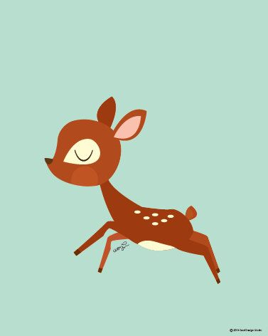 Baby Deer Doing A Little Leap Poster : Modern Animal Illustration Nursery Art Wall Decor Print 8 x 10 | INSTANT Digital Download Printable by SealAndFriends on Etsy https://www.etsy.com/listing/165843182/baby-deer-doing-a-little-leap-poster