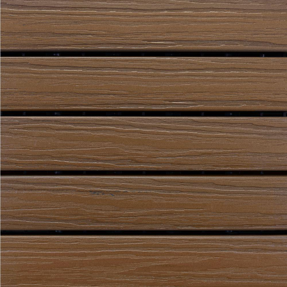 Newtechwood Ultrashield Naturale 1 Ft X 1 Ft Quick Deck Outdoor Composite Deck Tile In Irish Green 10 Sq Ft Per Box Us Qd Zx Sg Deck Tile Composite Decking Wood Square