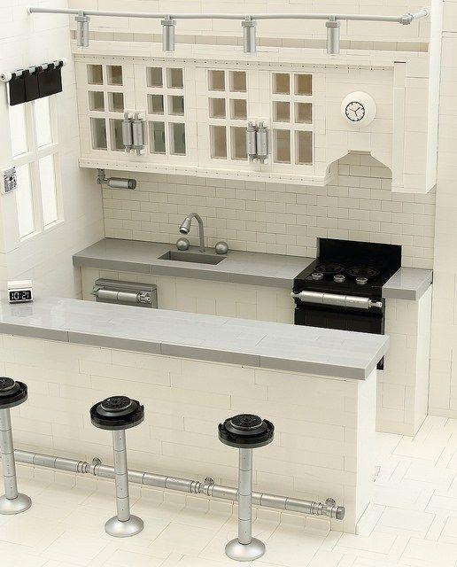 A brick-built home: incredible LEGO modern kitchen