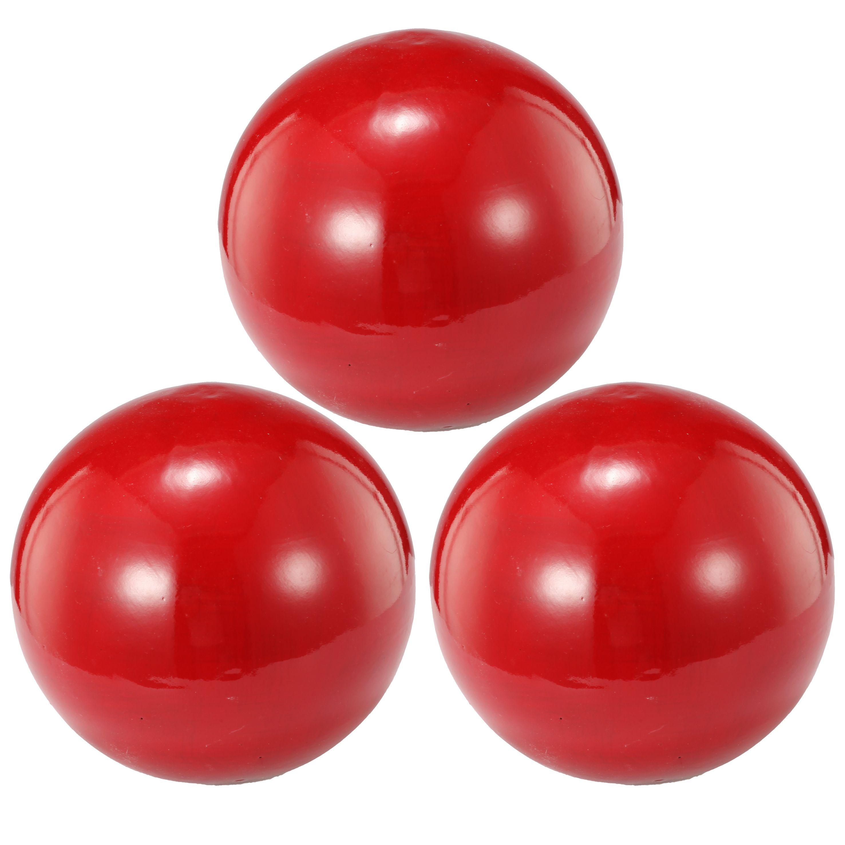 Red Decorative Balls Red 4Inch Decorative Balls Set Of 3 Decorative Ballscrimson