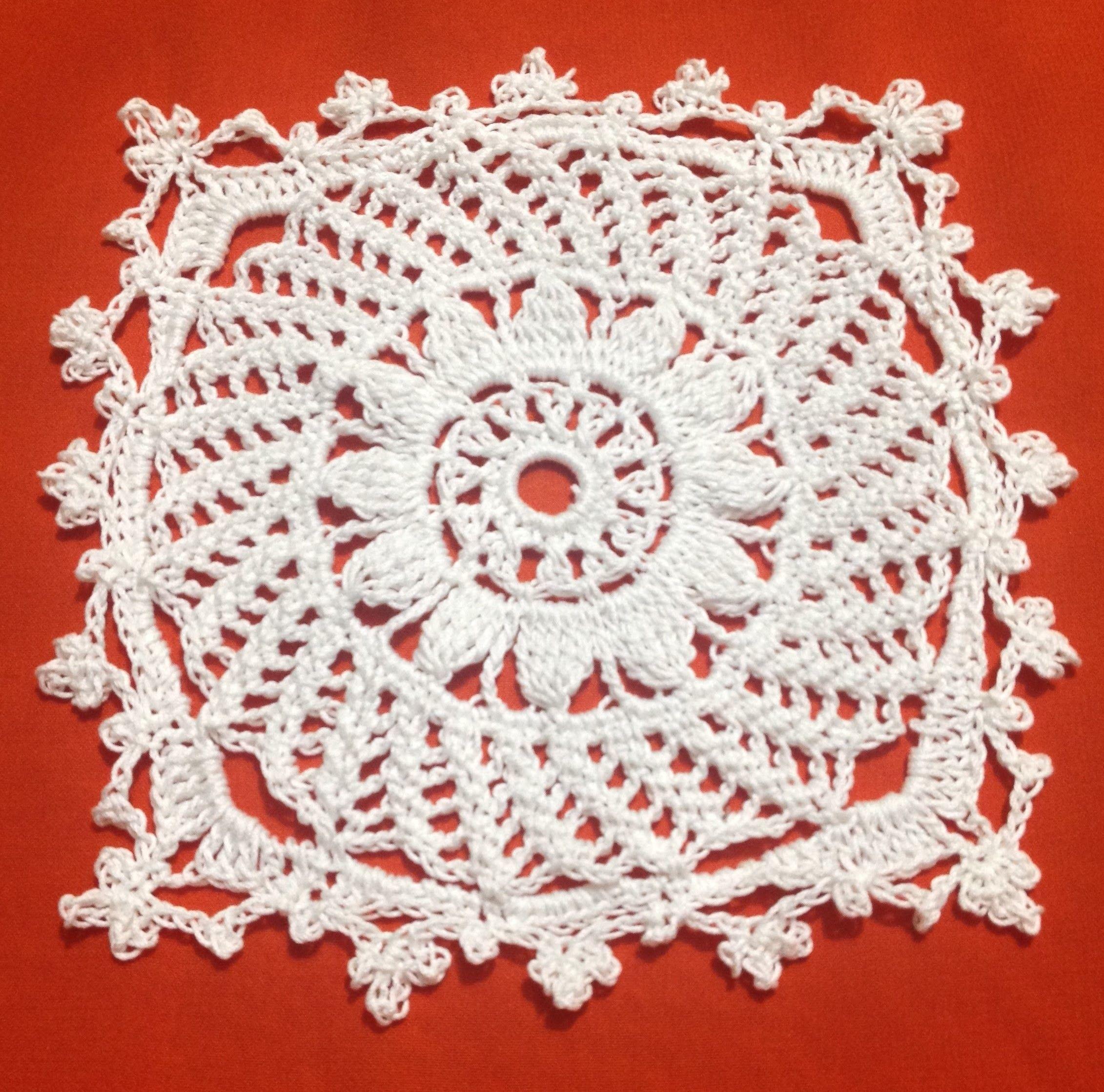 Crochet Vintage Square Coaster Part1
