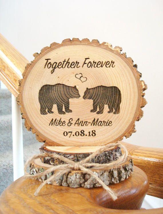 Moose Wedding Cake Topper - Woodland Wedding Cake Topper - Bride ...