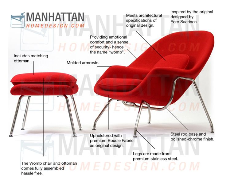 Womb Chair & Ottoman | Womb chair, Ottomans and Manhattan