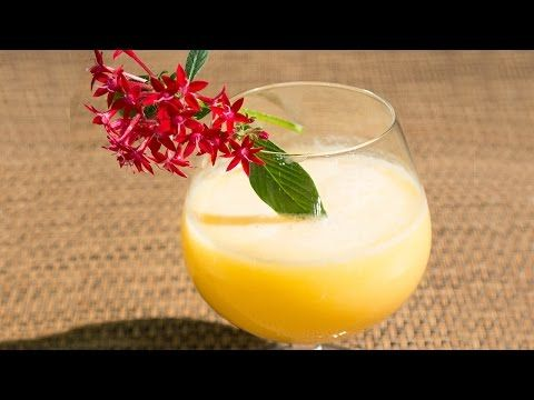 Cocktail pasión frutal.
