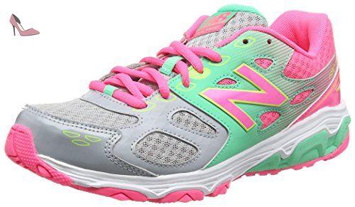 New Balance 680v3, Sneakers Basses Mixte Enfant, Multicolore (Grey/Pink),