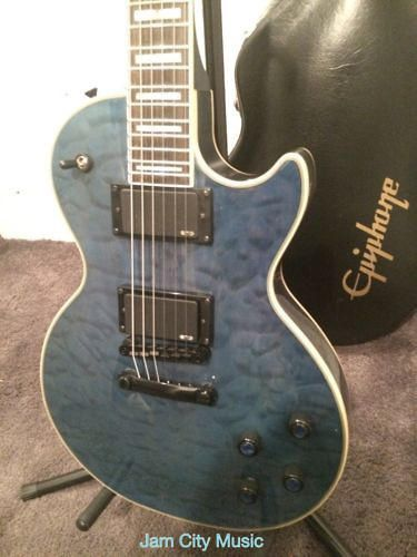Epiphone Prophecy Les Paul Custom Plus EX/ GX OHSC Midnight Sapphire refurbished deal!