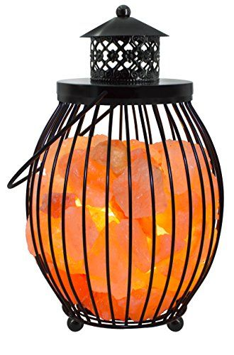 Wbm Salt Lamp Interesting Wbm 1342 Himalayan Glow Natural Air Purifying Himalayan Lantern Design Decoration