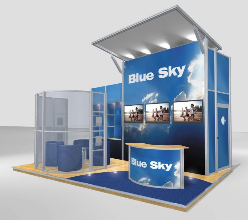 Modular Exhibition Display Stands : Modular exhibition stand from discountdisplays exhibit