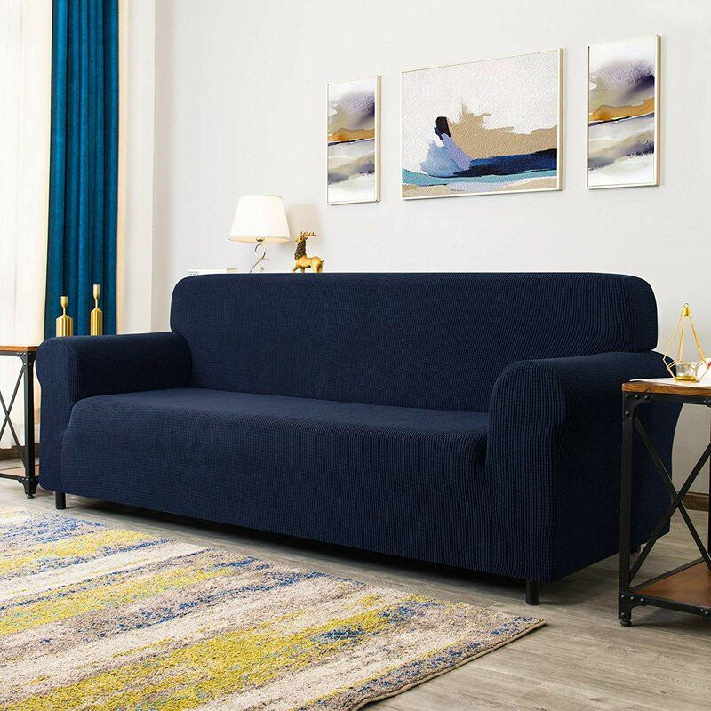 Winston Porter Dlerfeut Box Cushion Sofa Slipcover Reviews Wayfair In 2020 Cushions On Sofa Loveseat Slipcovers Slipcovered Sofa