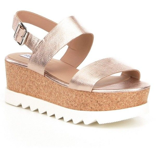 38cd6da8450 Steve Madden Krista Platform Sandals ( 90) ❤ liked on Polyvore featuring  shoes