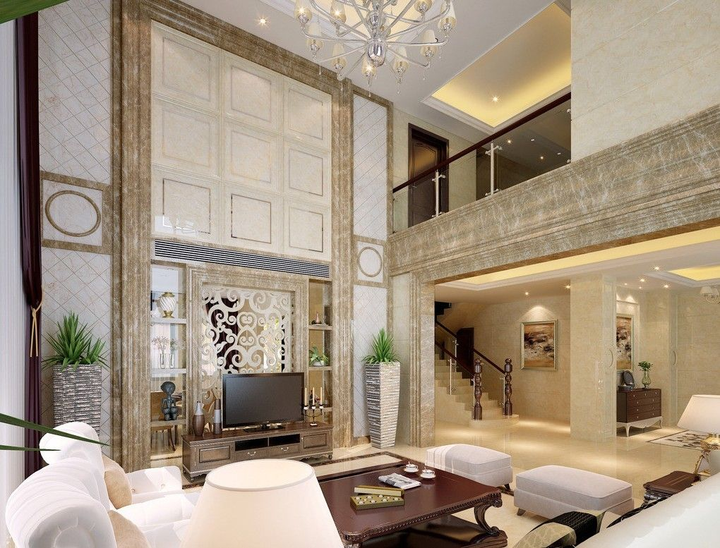Penthouse Duplex living area - Google Search | Duplex di 2019 | Hall interior design, Hall ...