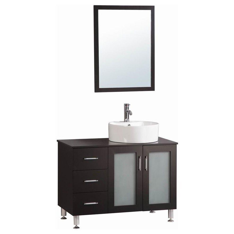 Belvedere Espresso Modern Freestanding 40Inch Bathroom Vanity Stunning 40 Inch Bathroom Vanity Design Inspiration