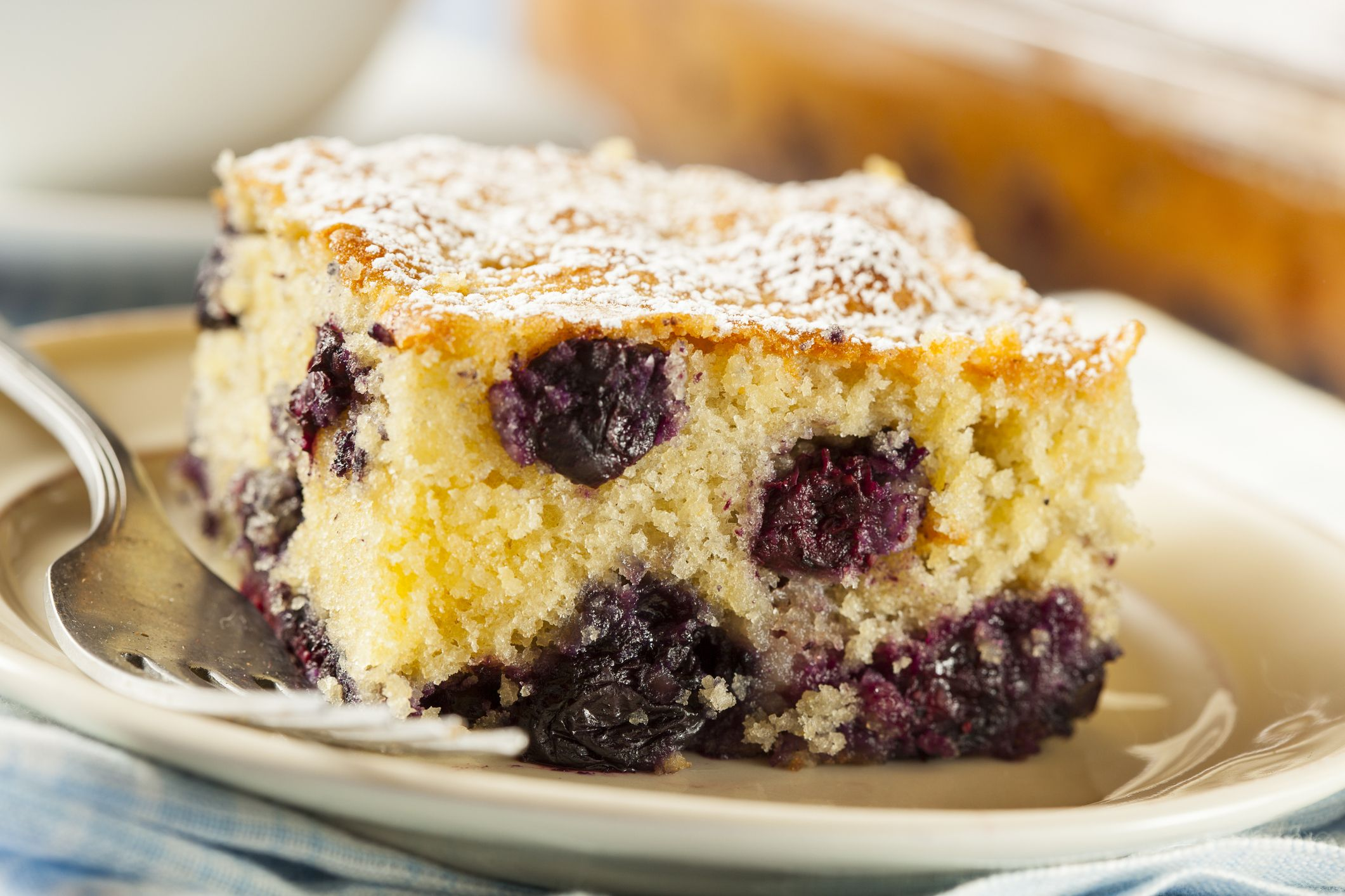 Blueberry lemon coffee cake recipe with images