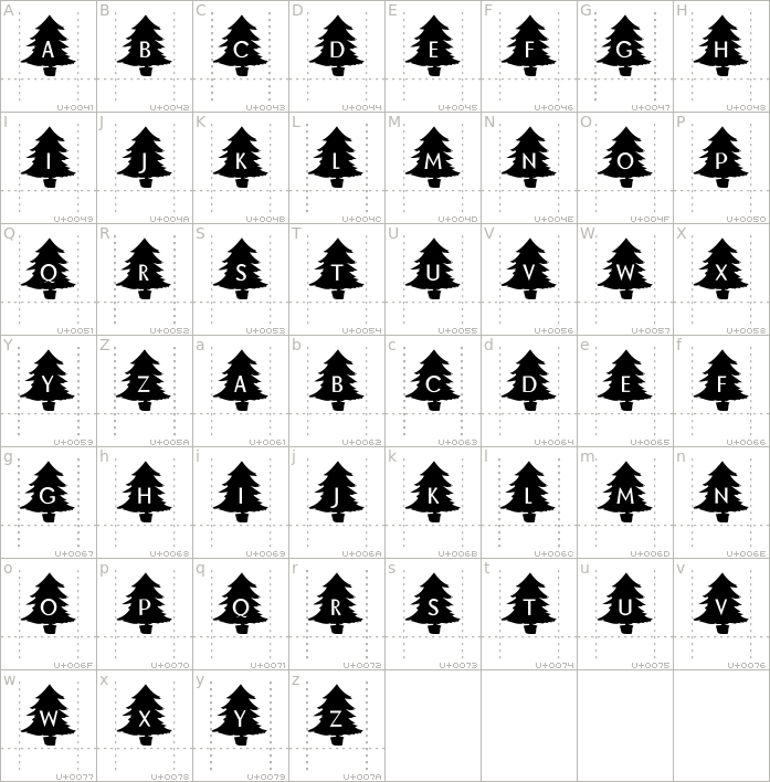 Kr Oh Christmas Tree Font 1001 Fonts Christmas Tree 1001 Fonts Tree