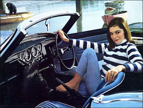 Mid 1960's, and MG and Triumph begin their advertising campaigns using predominantly females