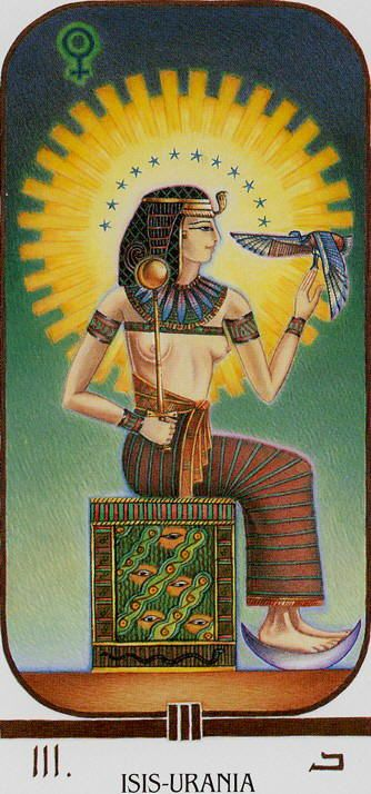 Egyptian Tarot Kit Deck Book Loscar: Isis-Urania (The Empress) - Ibis Tarot