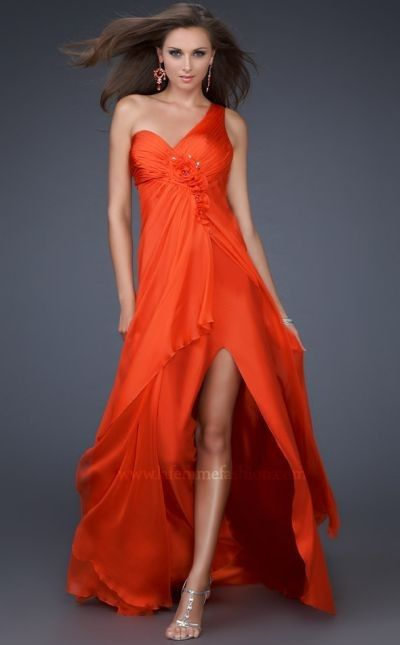 Dancing with the Stars by La Femme Orange Evening Dress 16180 ...