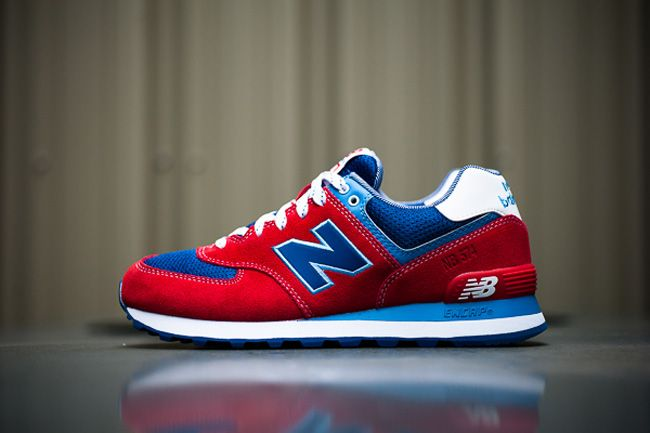 "new product abdc6 08b26 New Balance 574 ""Yacht Club"" - Red   Blue"