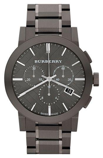 7f05f60ccd1 Burberry Large Chronograph Watch Relógios Caros