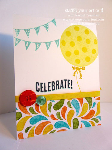 Baby Card Made With Celebrate Today Stamp Set Birthday Bash
