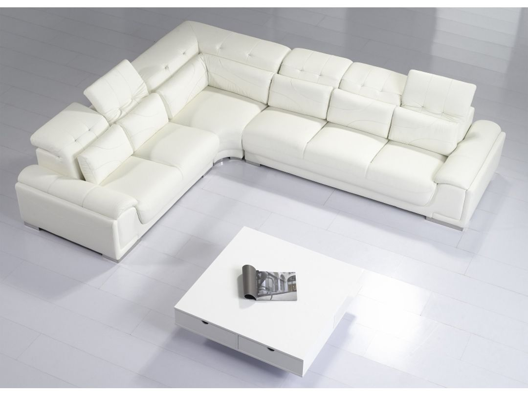 Seating > Sofas & Sectionals > T93C - Modern White Leather Sectional ...