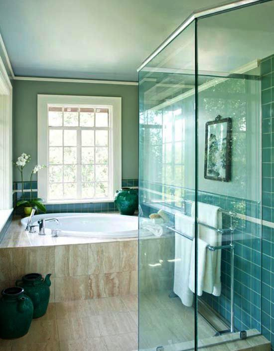 Upstairs en suite bathroomsomething like this I like the glass